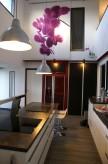 Aménagement d'une cuisine avec la réalisation de toute la partie cloisonement, integration de l électoménager peinture et pose revêtement de sol PVC