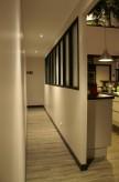 Vue du couloire après réalisation de notre verrière
